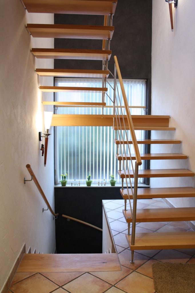 Lehmputz Treppenhaus 2